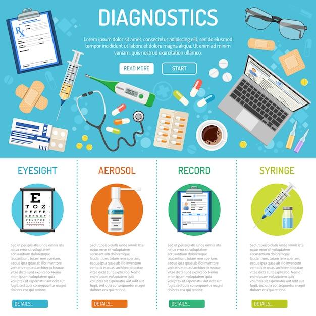 Medische banner en infographics Premium Vector