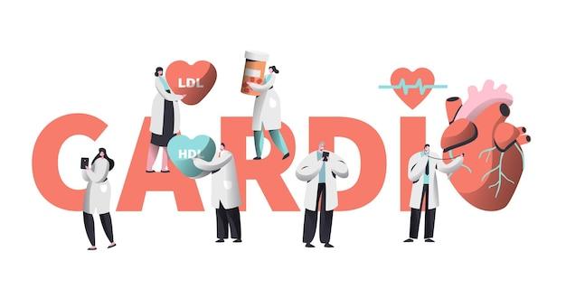 Medische cardiologie werknemer zorg hart gezondheid concept Premium Vector