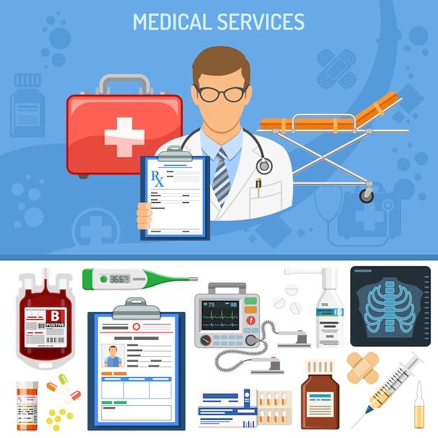 Medische diensten concept Premium Vector