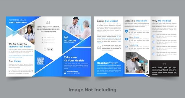 Medische driebladige brochure ontwerpsjabloon Premium Vector