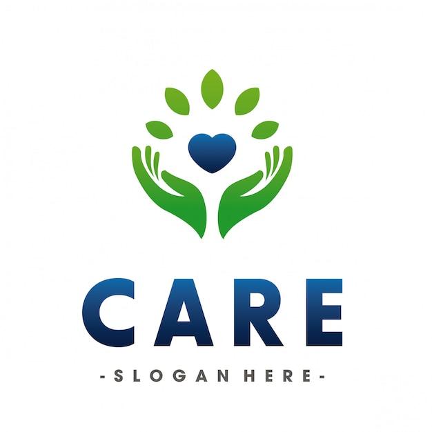 Medische en liefde gezondheidszorg logo Premium Vector