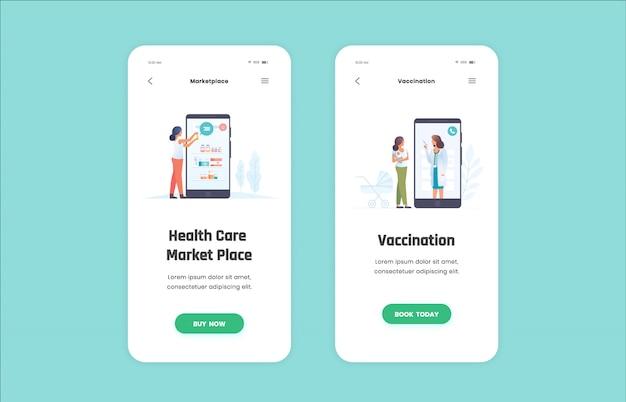 Medische illustratie voor mobiele app Premium Vector