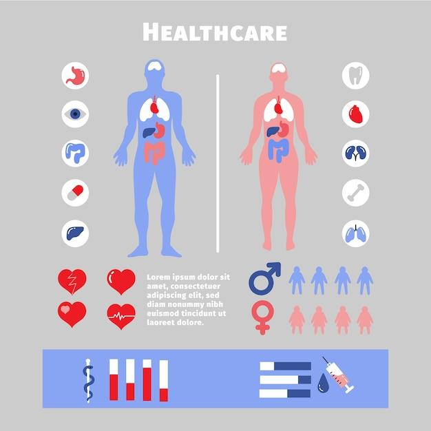 Medische infographic elementen Gratis Vector