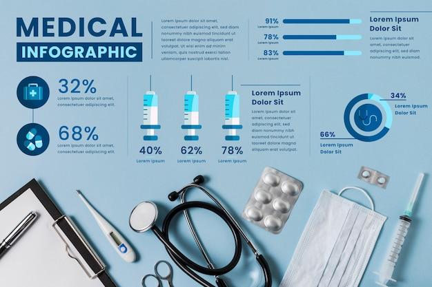 Medische infographic sjabloon Gratis Vector
