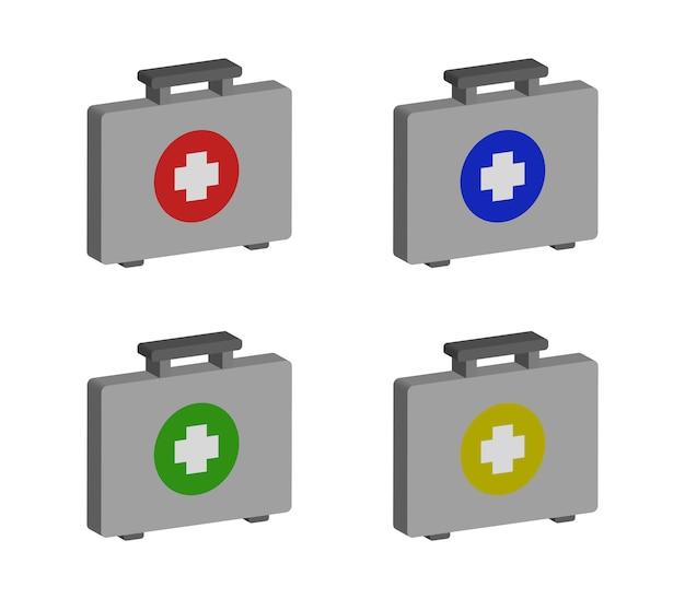 Medische koffer set Premium Vector