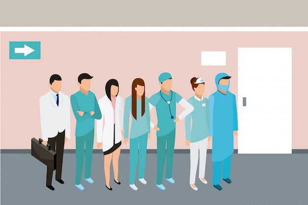 Medische mensen gezondheid Gratis Vector