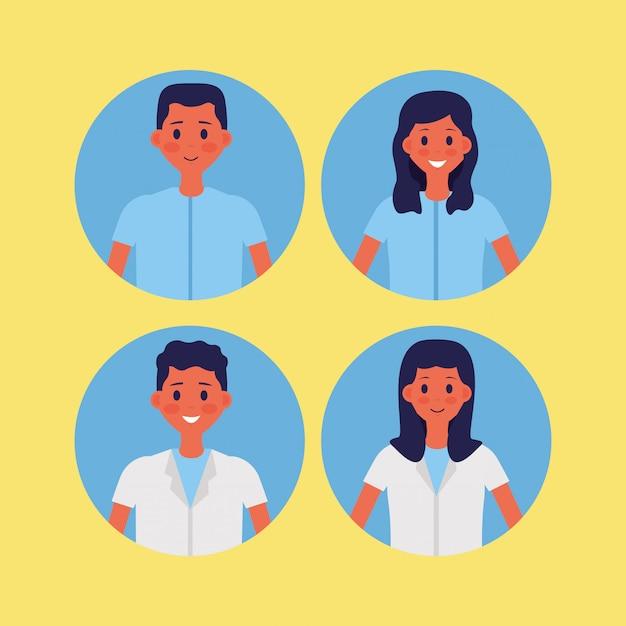 Medische mensen personeel vector illustratie Gratis Vector