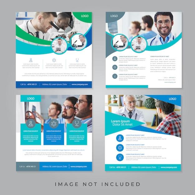 Medische sociale media-banners Premium Vector