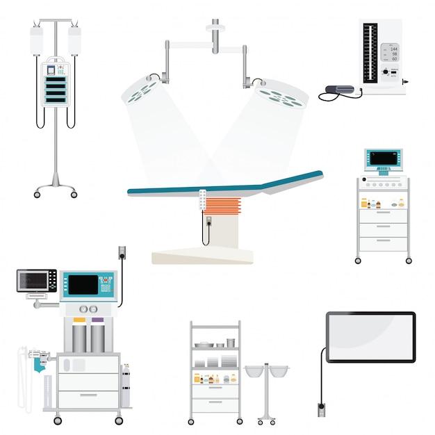 Medische uitrusting Premium Vector