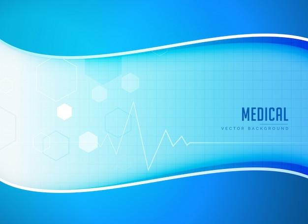 Medische vectorachtergrond met hartslaglijn Gratis Vector