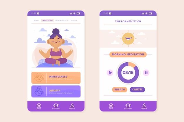 Meditatie-app Gratis Vector