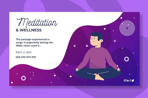 Meditatie en mindfulness-bannerstijl Gratis Vector