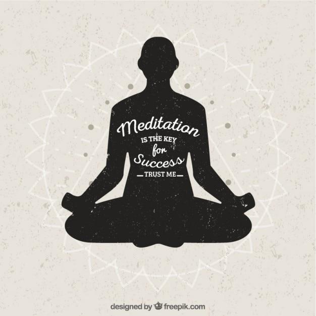 Meditatie is de sleutel van het succes Gratis Vector