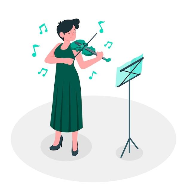 Meer muziek concept illustratie Gratis Vector