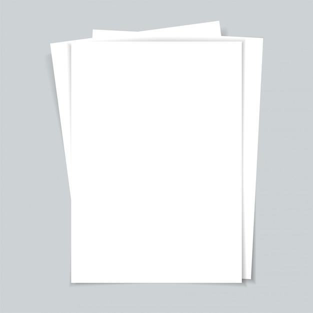 Meerdere documenten. vellen papier. Premium Vector