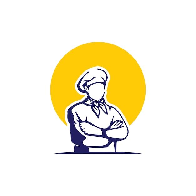 Meesterkok logo Premium Vector