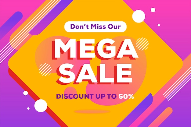 Mega verkoop abstracte achtergrond Gratis Vector