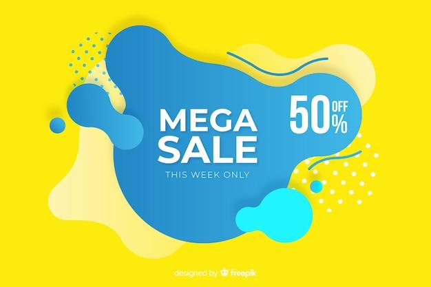 Mega verkoopachtergrond in abstracte stijl Gratis Vector