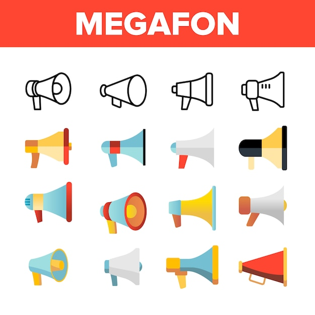 Megafon Premium Vector