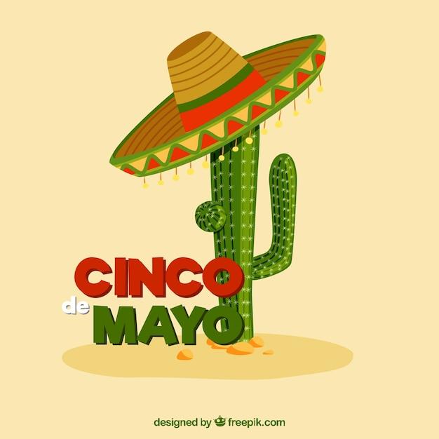 Mei vijf in mexico illustratie Gratis Vector