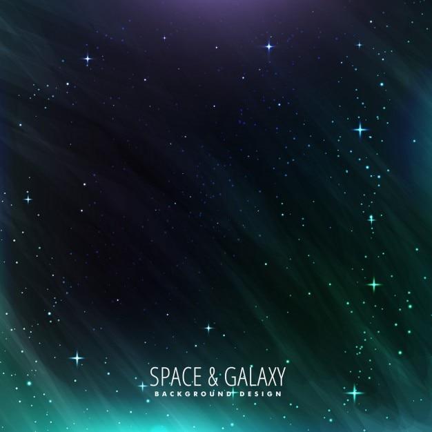 Melkweg en ruimte achtergrond Gratis Vector