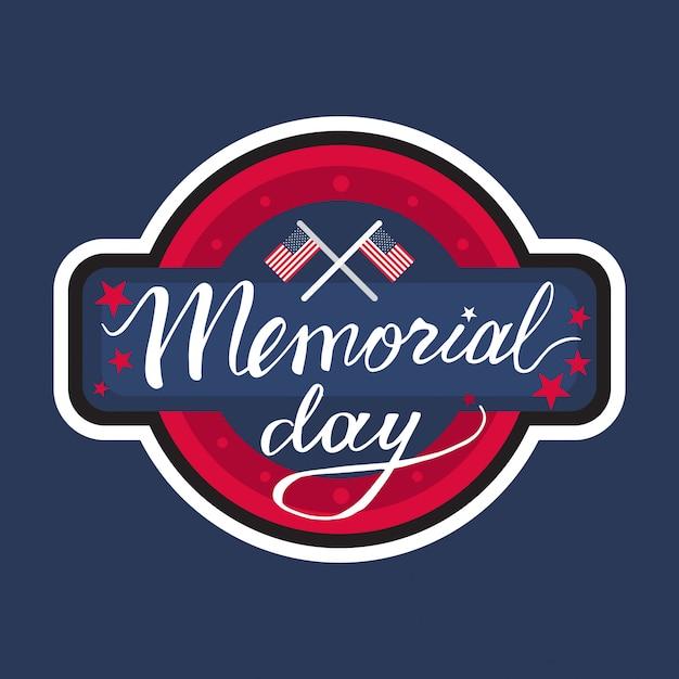 Memorial day banner Premium Vector
