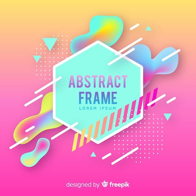 Memphis abstract frame Gratis Vector