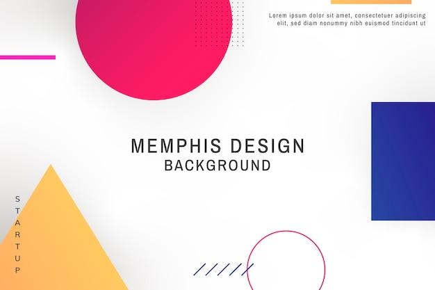 Memphis achtergrond Gratis Vector