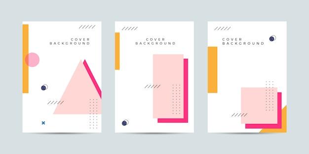 Memphis cover design collectie set Premium Vector