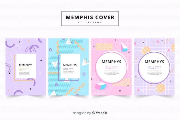 Memphis covercollectie Gratis Vector