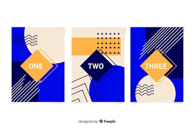 Memphis design covercollectie Gratis Vector