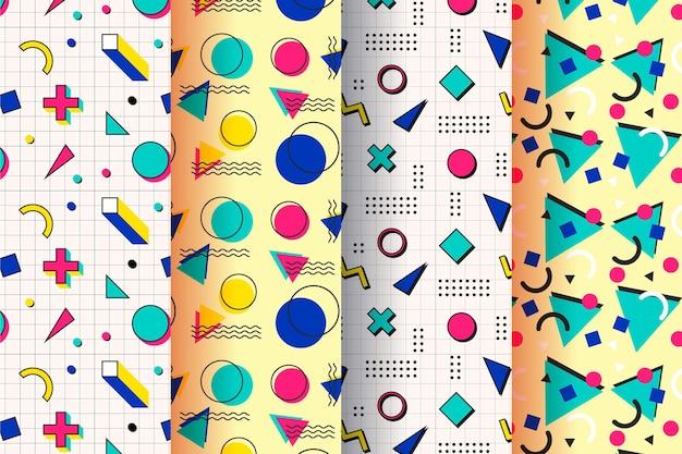 Memphis patroon collectie concept Gratis Vector