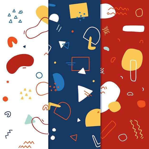 Memphis patrooncollectie ontwerp Gratis Vector