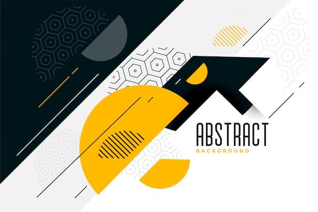 Memphis stijl abstracte cirkels achtergrond Gratis Vector