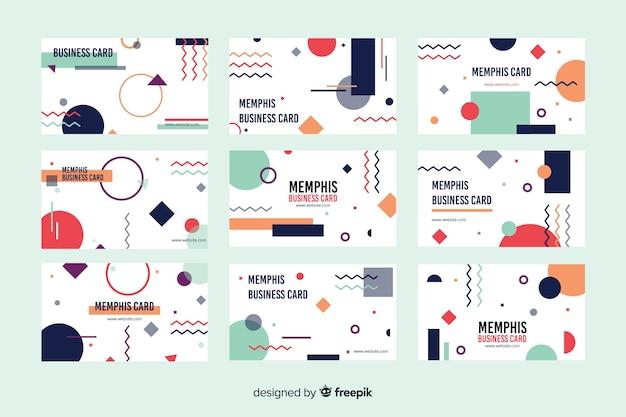 Memphis stijlsjabloon voor visitekaartjes Gratis Vector