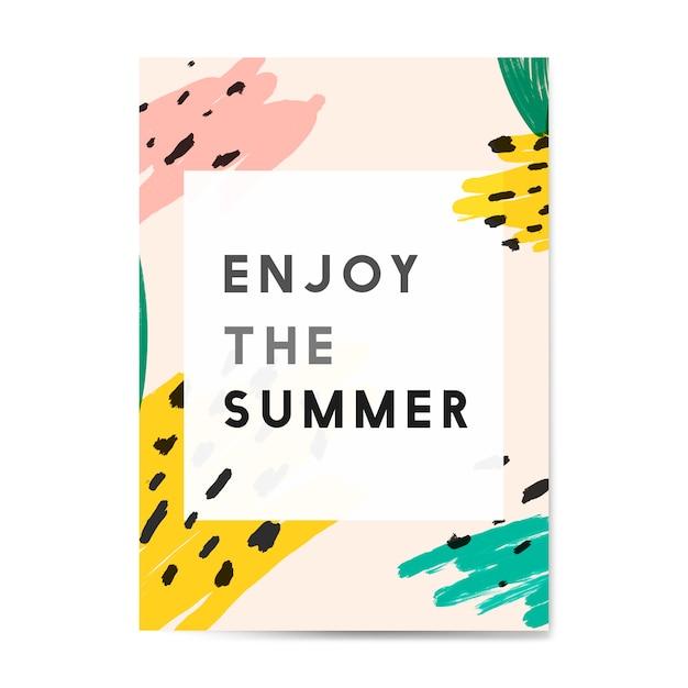 Memphis zomer kaart ontwerp vector Gratis Vector