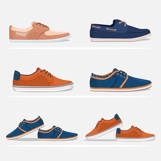 Men geplaatste schoenen Gratis Vector