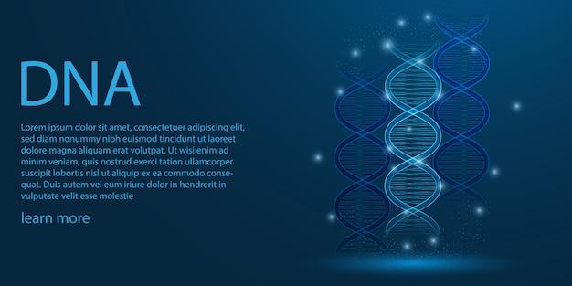 Menselijk genoom, dna-thema concept. Premium Vector