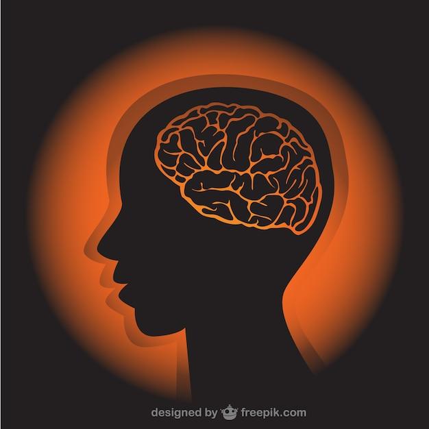 Menselijk profiel illustratie Gratis Vector