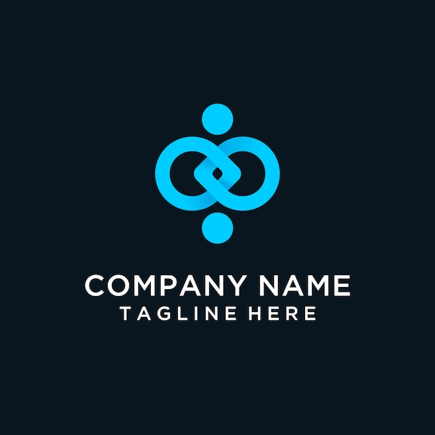 Menselijk verbinding modern logo Premium Vector