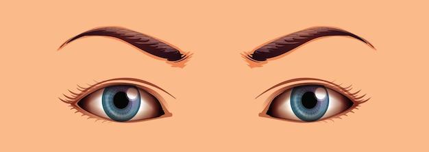 Menselijke close-up ogen Gratis Vector