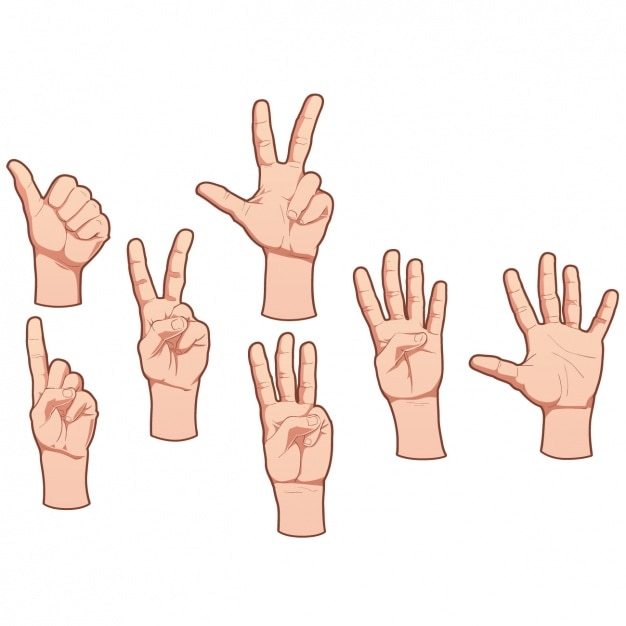 Menselijke handen ontwerp Gratis Vector