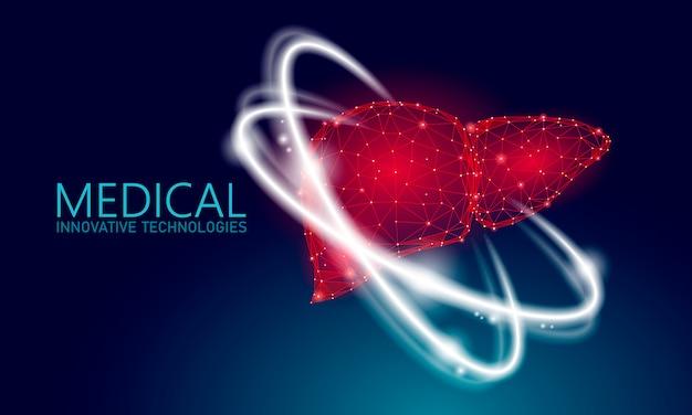 Menselijke lever reconstructie therapie medische concept. Premium Vector