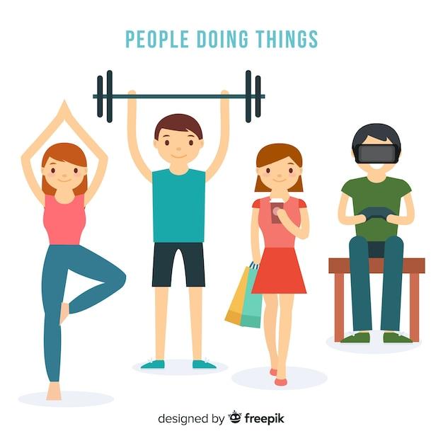 Mensen activiteiten Gratis Vector