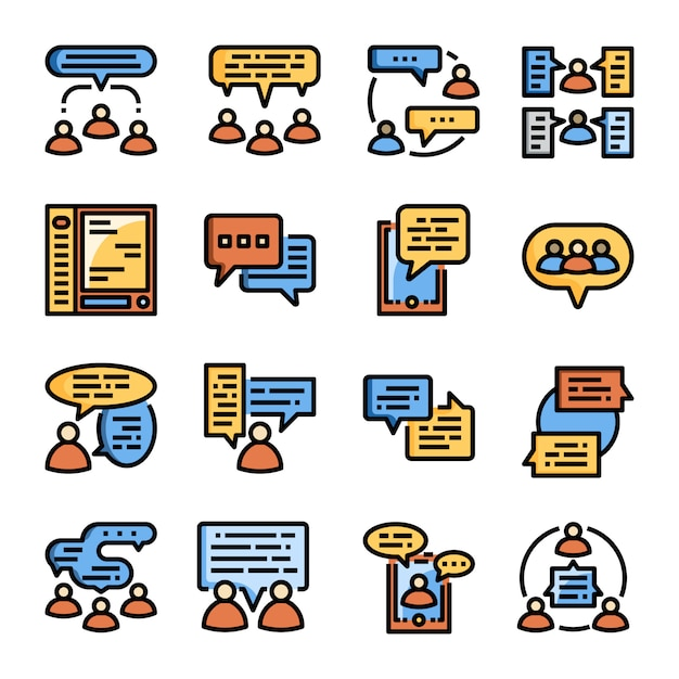 Mensen communicatie collectie Premium Vector
