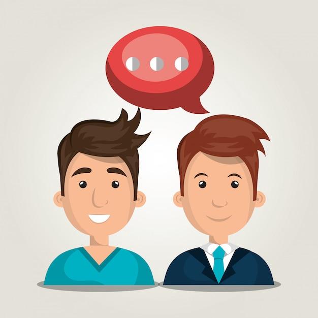 Mensen communiceren Gratis Vector