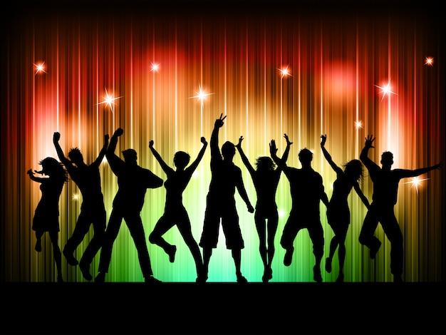 Mensen dansen Gratis Vector