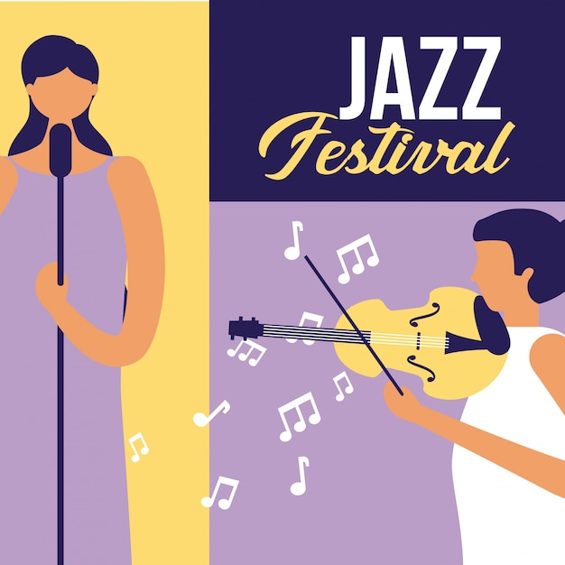 Mensen festival jazz Gratis Vector