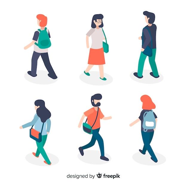 Mensen gaan naar de universiteit Gratis Vector