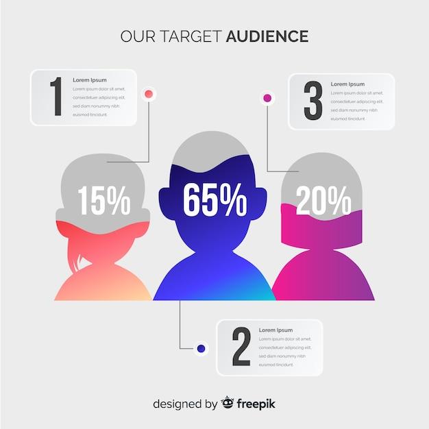 Mensen infographic Gratis Vector
